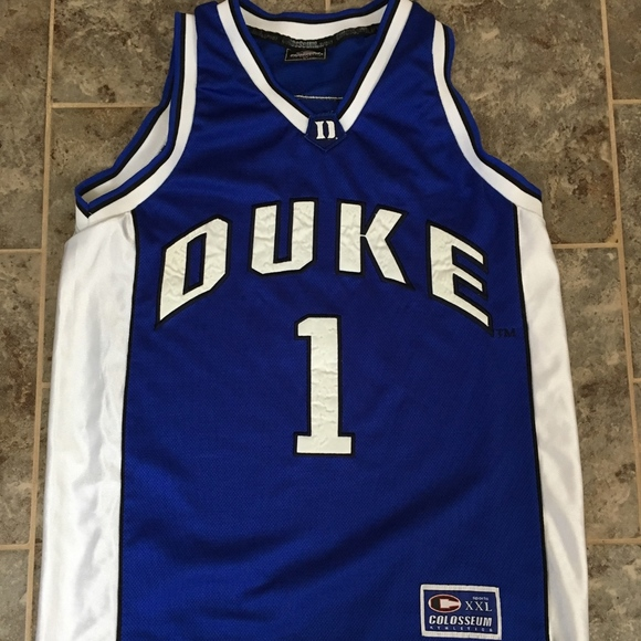 big sale a1d98 482e0 Vintage Colosseum Duke Basketball Jersey #1 Size M